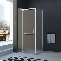 VECONI RV-18 Душевой уголок квадратный с распашными дверями, размер 90х90 см - фото 10423