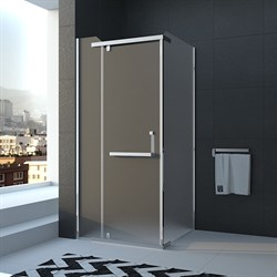 VECONI RV-18 Душевой уголок квадратный с распашными дверями, размер 80х80 см - фото 10426