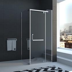 VECONI RV-18 Душевой уголок квадратный с распашными дверями, размер 80х80 см - фото 10439