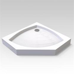 VECONI TZ-03 Поддон пятиугольный акриловый, размер 100х100 см, высота 14 см - фото 10473