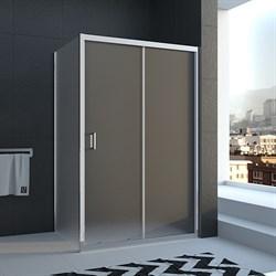 VECONI RV-25 Душевой уголок прямоугольный с раздвижными дверями, размер 130х120 см - фото 10566