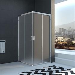 VECONI RV-11 Душевой уголок квадратный с раздвижными дверями, размер 90х90 см - фото 10602