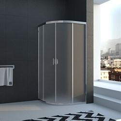 VECONI RV-02 Душевой уголок полукруглый с раздвижными дверями, размер 100х100 см - фото 10622