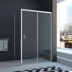 VECONI RV-25 Душевой уголок квадратный с раздвижными дверями, размер 100х100 см - фото 10737