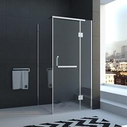 VECONI RV-15 Душевой уголок квадратный с распашными дверями, размер 80х80 см - фото 10793
