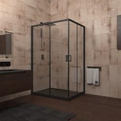 VECONI RV-14 Душевой уголок прямоугольный с раздвижными дверями, размер 80х100 см - фото 10803