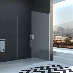 VECONI RV-12 Душевой уголок квадратный с распашными дверями, размер 90х90 см - фото 10807