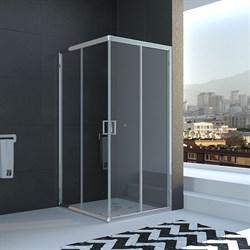 VECONI RV-11 Душевой уголок квадратный с раздвижными дверями, размер 100х100 см - фото 10813