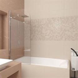VECONI PL-80 Шторка поворотная для ванны без рукоятки, ширина 70 см - фото 10906