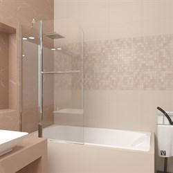 VECONI PL-81 Шторка поворотная для ванны с рукояткой, ширина 80 см - фото 10909
