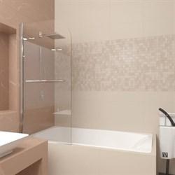 VECONI PL-80 Шторка поворотная для ванны с рукояткой, ширина 90 см - фото 10913