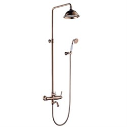 LEMARK Spark Душевая система-стойка со смесителем для ванны - фото 11138