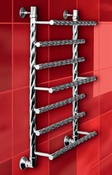 """Лесенка Q Braid 1"""" DVEEN (ДВИН) Полотенцесушитель модель Q Braid, труба из нержавеющей стали, водяной - фото 4675"""