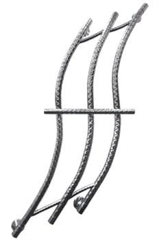 Модель Flame DVEEN (ДВИН) Полотенцесушитель дизайн Flame, труба из нержавеющей стали, водяной - фото 4716