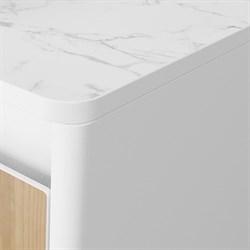 Столешница для тумбы VELVEX Klaufs с вырезами под смеситель и в центре под раковину, HPL Compact, толшина 12,5 мм - фото 6007