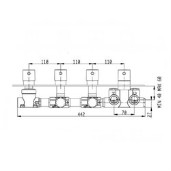 RU004X00Q AquaElite встроенная часть термостатического смесителя на 4 потребителя - фото 9373