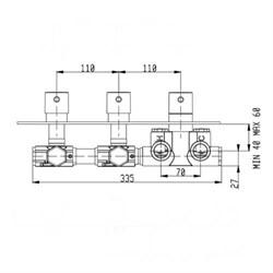 RU002X00Q AquaElite встроенная часть термостатического смесителя на 2 потребителя - фото 9375