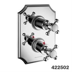 PALAZZANI Formula внешняя панель для встроенного термостатического смесителя на 2 потребителя - фото 9827