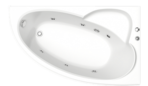 Гидромассажная ванна Bas Сагра R 160х100