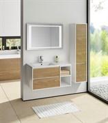 SANVIT Мэри-4  Тумба напольная для ванной комнаты с раковиной с левым или правым смещением, 2 выдвижных ящика и 2 открытых ниши