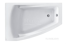 Ванна акриловая Roca Hall Angular 150х100 асимметричная левая белая ZRU9302864
