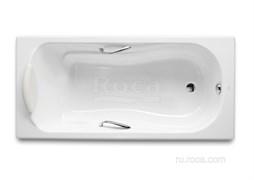 Ванна чугунная Roca Haiti 140x75 с отверстиями для ручек, anti-slip  2331G0000