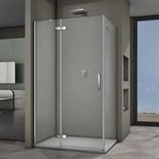 VECONI RV-064 Душевой уголок прямоугольный с распашными дверями, размер 100х80 см