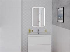 CERSANIT зеркало: LED 050 pro 55*80, с подсветкой, антизапотевание, смена цвета холод.тепло, часы
