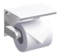 RUSH Edge Держатель туалетной бумаги с полкой , белый