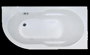 ROYAL BATH Azur 138х79 Акриловая ванна асимметричная, правая
