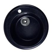 ROSSINKA RS51R Мойка из искусственного мрамора, размер 51х51 см, цвет черный, поверхность матовая