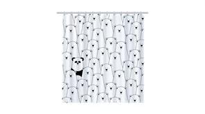 FIXSEN Panda Шторка для ванной, ширина 180 см, цвет черный