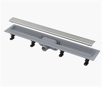 ALCA PLAST Симпл желоб водоотводящий, L 950 мм, пластик , с решеткой из нержавеющей стали, матовый