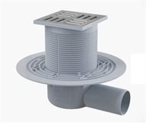 ALCA PLAST Сливной трап, 105х105/50 мм, боковая подводка, решетка из нерж.стали , комбинир гидрозатвор SMART