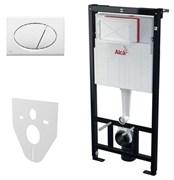 ALCA PLAST Система инсталляции для унитазов, A101/1200, M70, M91: , инсталляция, кнопка белая, звукоизол. плита, крепления