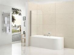 CEZARES ECO-V-1 Душевые шторки для ванн распашные, стекло 6 мм, устанавливается на левую или правую стороны
