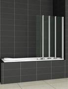 CEZARES PRATICO-V4-L Душевые шторки для ванн складные, стекло 5 мм, левый вариант