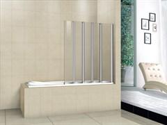 CEZARES PRATICO-V-5 Душевые шторки для ванн складные, стекло 5 мм, устанавливается на левую или правую стороны