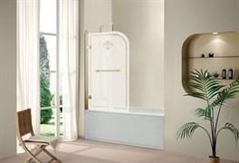 CEZARES RETRO-V-1-80-L Душевые шторки для ванн распашные, стекло 8 мм, левый вариант