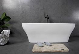 BELBAGNO BB73 Ванна акриловая отельностоящая прямоугольная в комплекте со сливом-переливом цвета хром