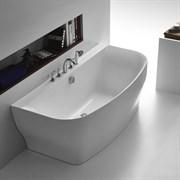 BELBAGNO BB74-1650 Ванна акриловая отельностоящая в комплекте со сливом-переливом цвета хром