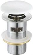 CEZARES Донный клапан с системой Клик-клак, с переливом, белая керамическая крышка