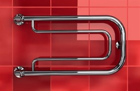 """Фокстрот A 1"""" DVEEN (ДВИН) Полотенцесушитель модель А, труба из нержавеющей стали, водяной"""