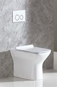 BELBAGNO Romano Унитаз приставной безободковый, полное примыкание, P-trap, сиденье приобретается отдельно