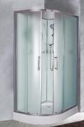 ESBANO C Душевая кабина, 115х85х210, поддон-15 см, стекла-рифленые, профиль-матовый хром, без крыши, правая