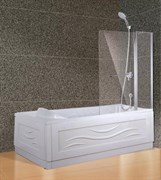 ESBANO Шторка для ванны, 120х140 см, профиль-хром, стекло 5мм easy clean, монтаж на обе стороны