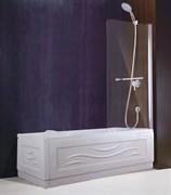 ESBANO Шторка для ванны, 80х140 см, профиль-хром, стекло 5мм easy clean, монтаж на обе стороны