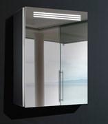 ESBANO Led Зеркальный шкаф, ШхВхГ: 50х70х15, светящаяся полочка, зеркало-линза