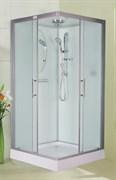 ESBANO CKR Душевая кабина, поддон-15 см, стекла-рифленые, профиль-матовый хром, верхний душ