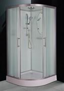 ESBANO CR Душевая кабина, поддон-15 см, стекла-рифленые, профиль-матовый хром, верхний душ